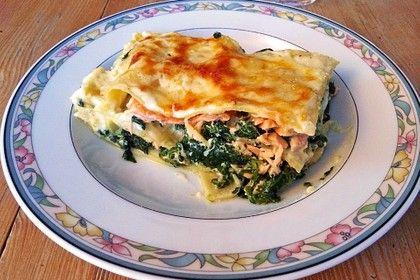 Leichte Spinat-Lachs-Lasagne #spinatlasagne