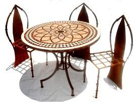 Mosaic tables - Moroccan outdoor mosaic tables - Mosaic tile tables
