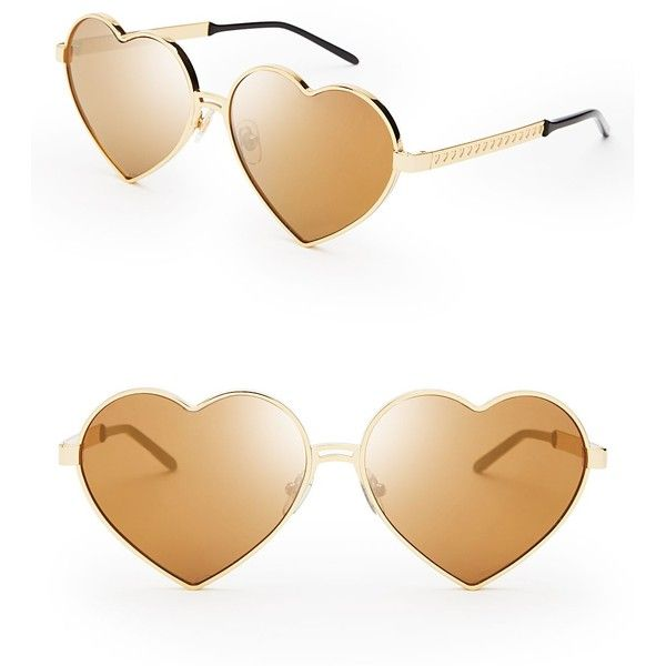Wildfox Lolita Deluxe Sunglasses ($199) ❤ liked on Polyvore featuring accessories, eyewear, sunglasses, glasses, lentes de sol, mirrored glasses, gold sunglasses, wildfox, gold glasses and gold mirror sunglasses