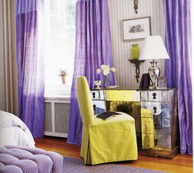 Color Scheme Complementary Using Purple And Yellow Colors