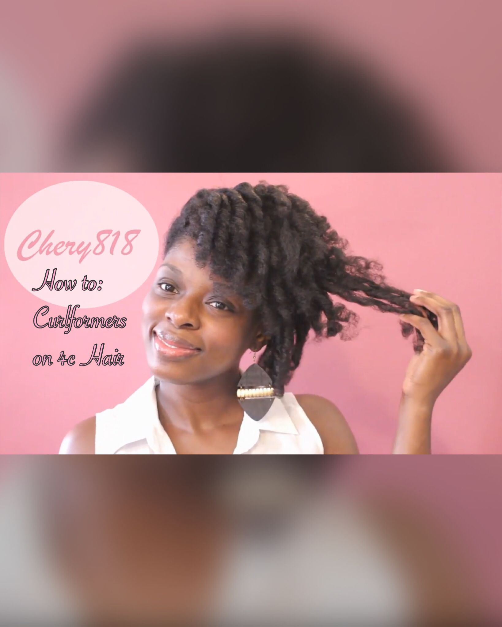 Curlformers Dupe Set On C Natural Hair With An Undercut - Undercut hairstyle set