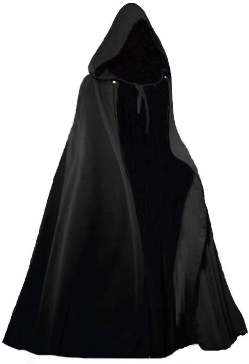 Renaissance Hooded Cloak With Clasp Etsy In 2021 Hooded Cloak Black Victorian Dress Cloak