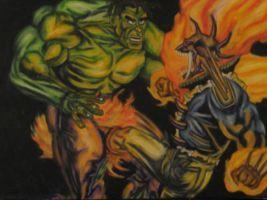 Hulk Vs Vengeance By Dlogan On Deviantart Ghost Rider Pictures Deadpool Deviantart
