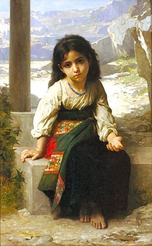 Little Beggar -- William Adolphe Bouguereau. I love Bougureau paintings