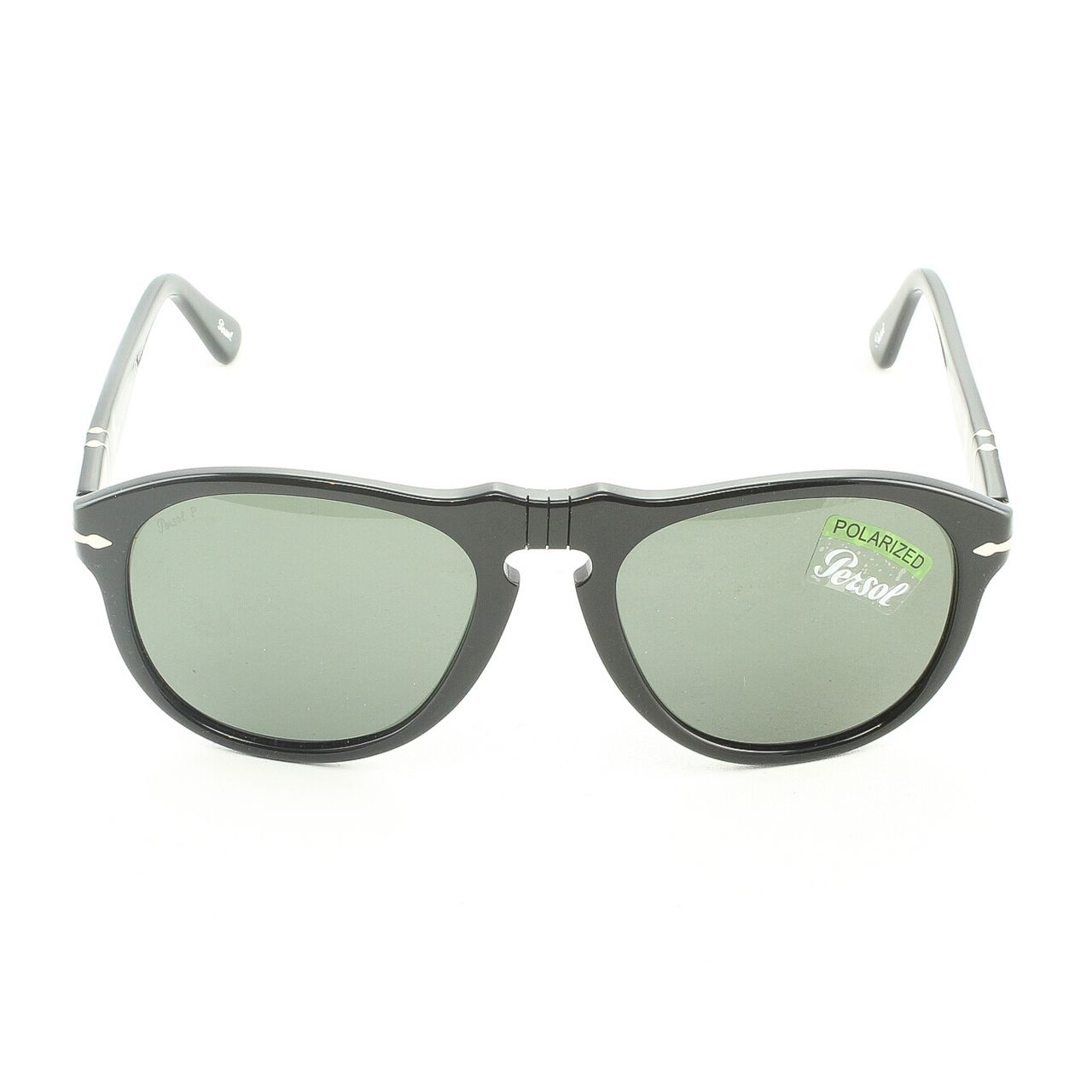3d6f1e10b0d4 Persol PO0649 95/58 56mm Black Sunglasses with Grey Green Polarized Lenses  - Theaspecs.com
