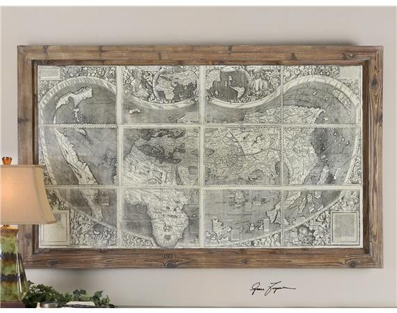 Treasure Map Framed Art