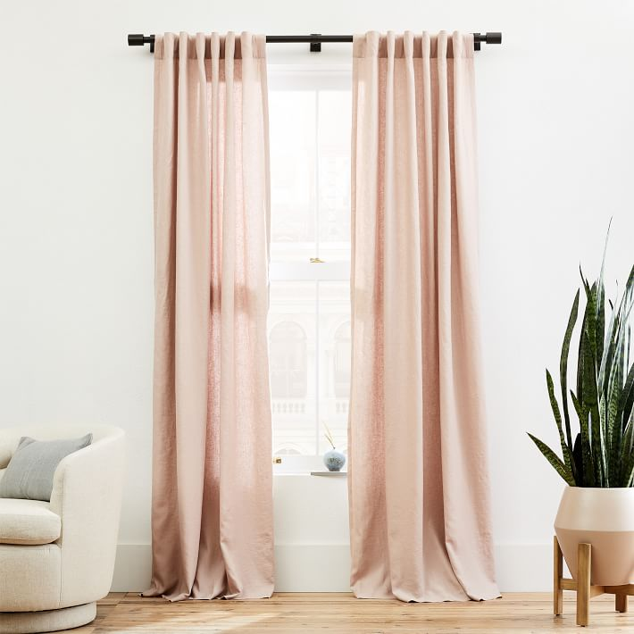 Belgian Linen Curtain Adobe Rose 48 X84 In 2020 Linen