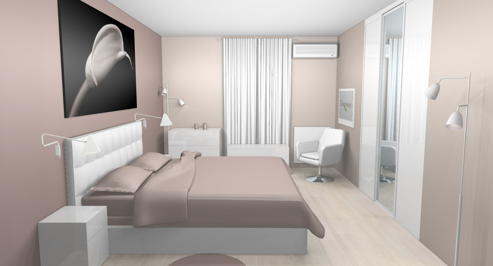 d co chambre taupe et blanc id es pour la maison. Black Bedroom Furniture Sets. Home Design Ideas