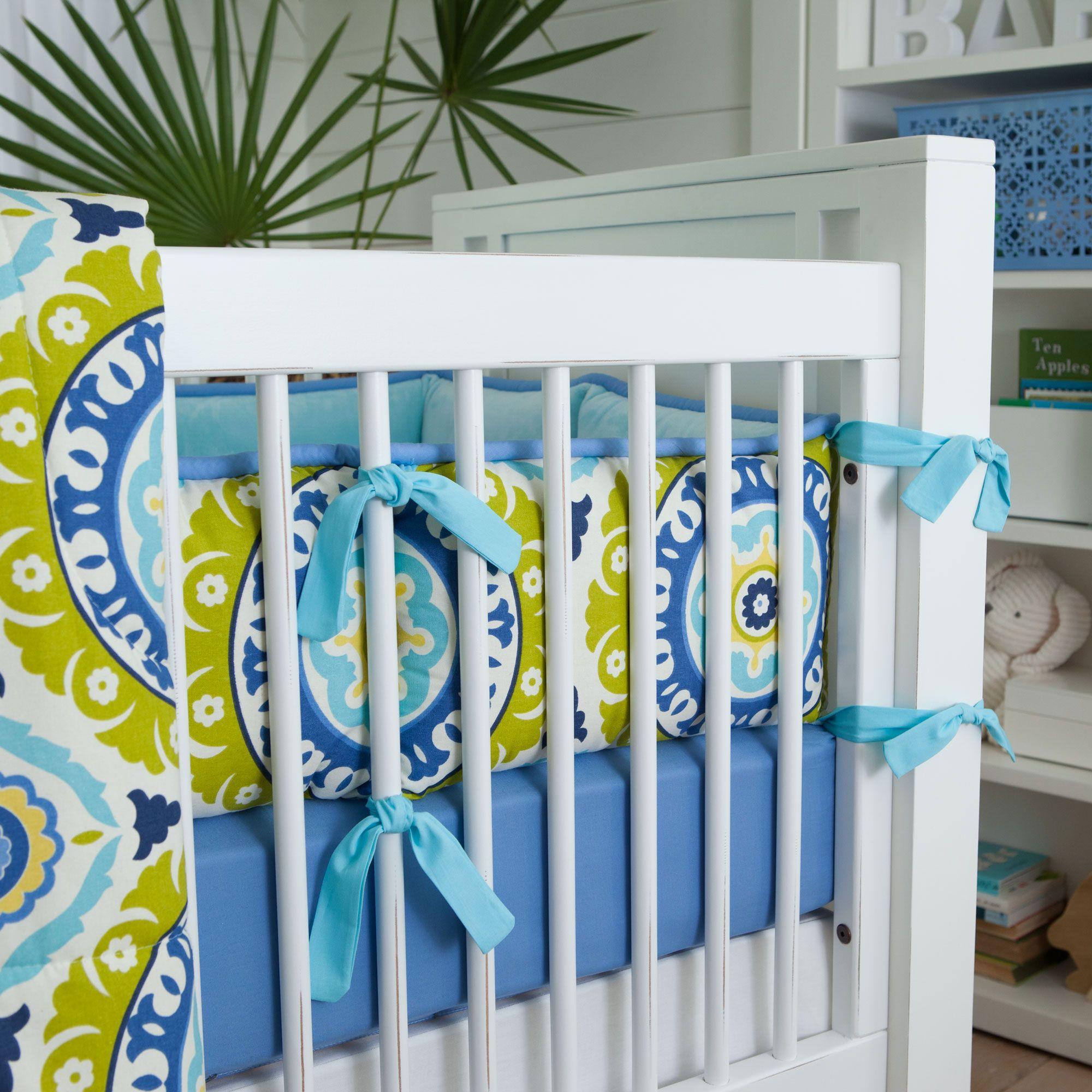 Lime Solar Flair Crib Bumper | Carousel Designs