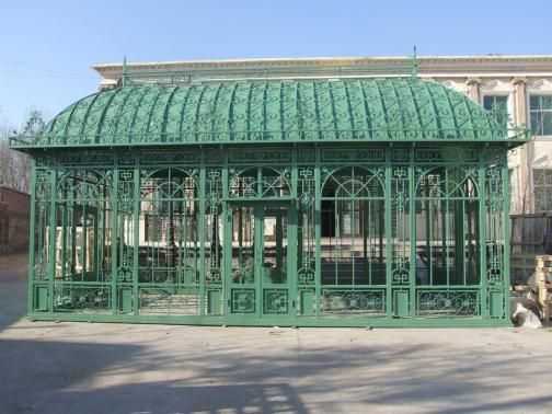 Excellent Large Garden Green House Or Conservatory Cast Iron Home Interior And Landscaping Ponolsignezvosmurscom