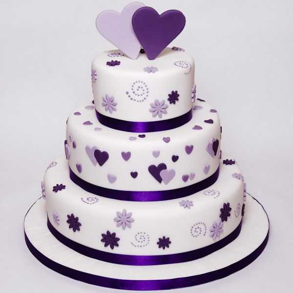 Purple Wedding Cake Ideas: Simple Wedding Cake Designs Purple