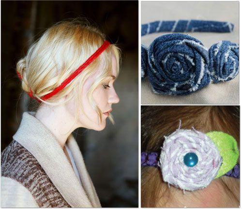 headbands with fabric flowers