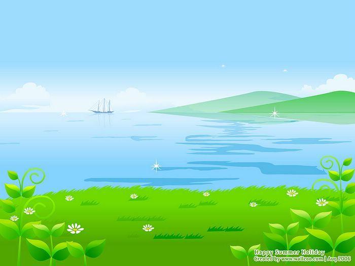 Blissful summer vector illustraitons of summer scene blue blissful summer vector illustraitons of summer scene blue ocean vector summer scene wallpaper voltagebd Gallery