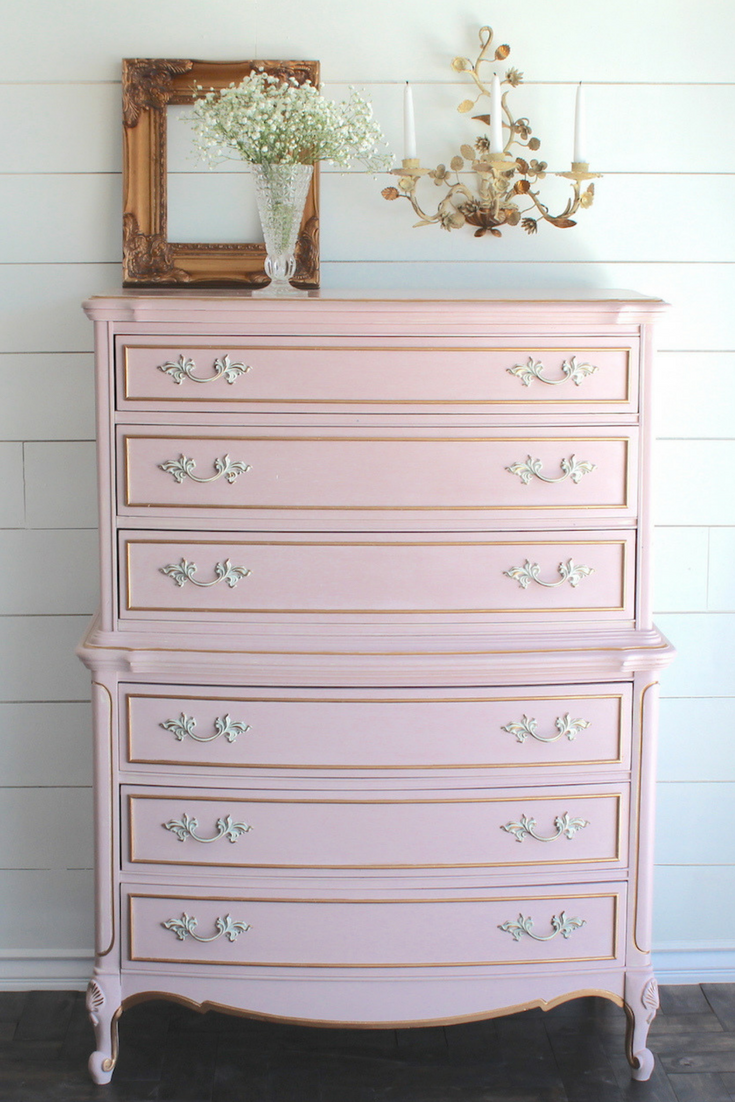 Annie Sloan Chalk Paint French Provincial Dresser Makeover Nurs Painted Baby Furniture French Provincial Dresser Makeover Painted French Provincial Furniture