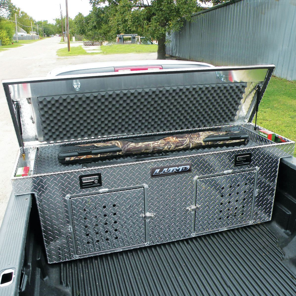 Cross Bed Dog Box Dog box, Truck tool box, Camper awnings