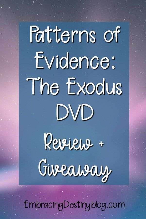 Patterns Of Evidence The Exodus Dvd Review Giveaway With