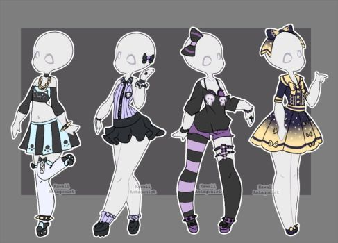 More Like Gacha Outfits 16 By Kawaii Antagonist Drawing Anime Clothes Anime Outfits Character Design