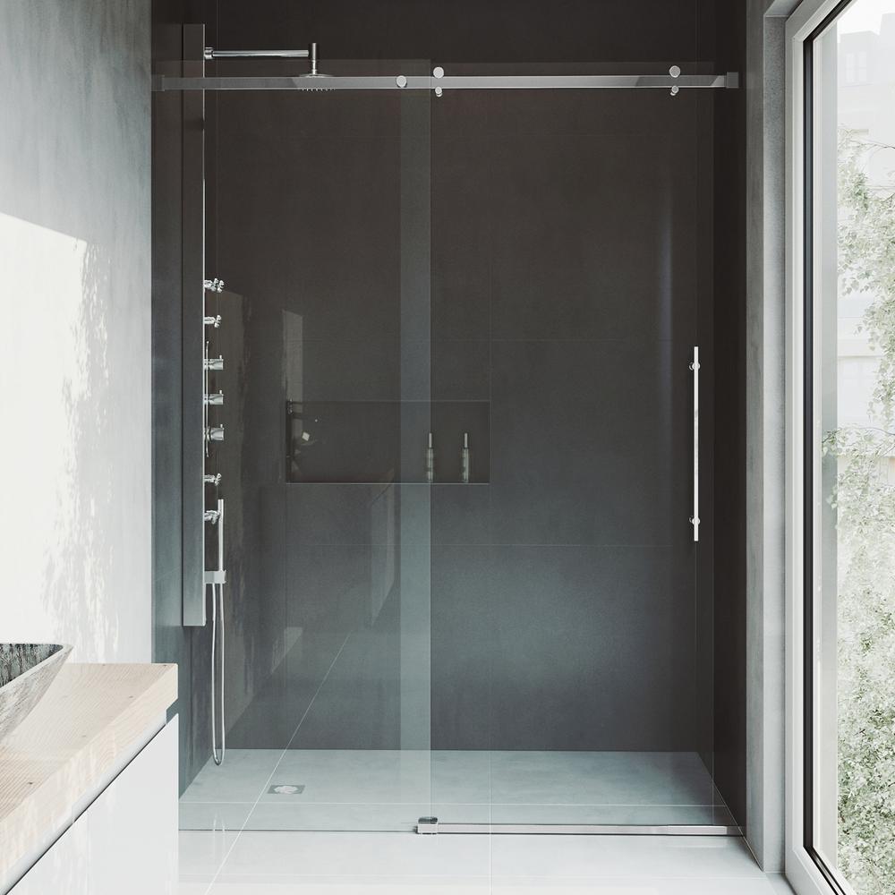 Vigo Luca 56 To 60 In X 78 75 In Frameless Sliding Shower Door