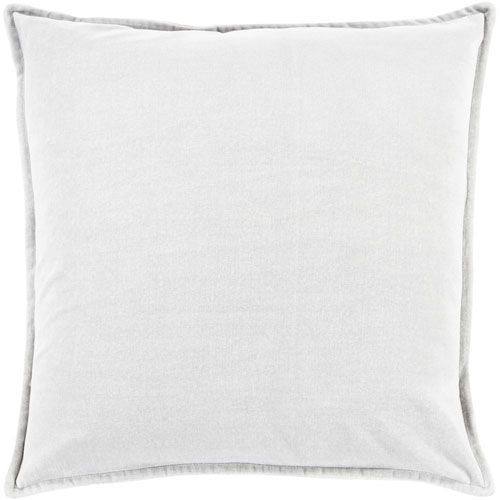 Ava Grace Light Gray 20-Inch Pillow with Down Fill