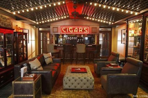 119 Ultimate Man Cave Ideas (FURNITURE, SIGNS & DECOR) #mancavebasement