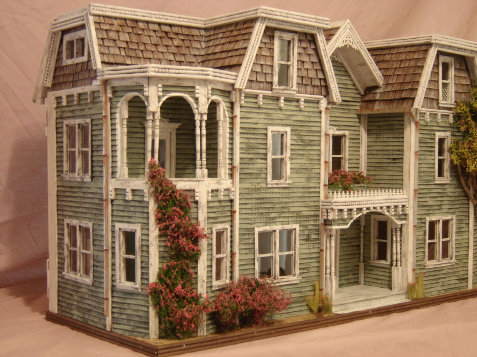 ooak 1 24th scale weathered coastal mansion dollhouse mansions
