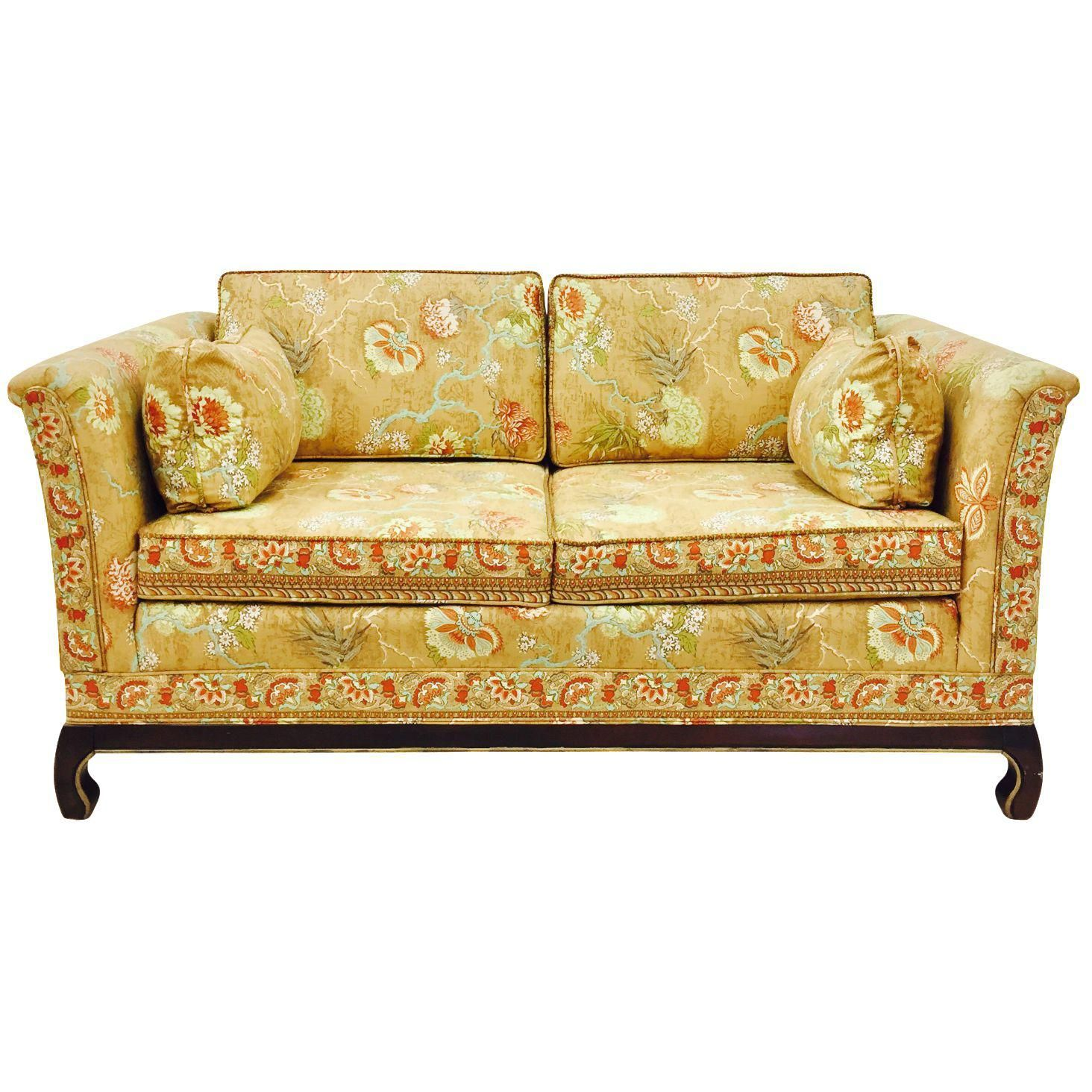Terrific Mid Century Modern Broyhill Ming Style Loveseat Image 1 Of Ibusinesslaw Wood Chair Design Ideas Ibusinesslaworg