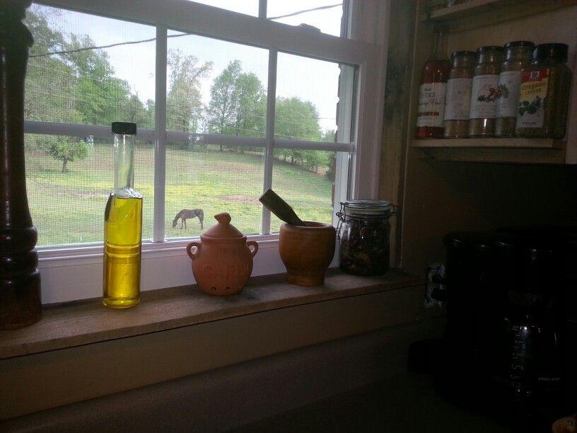 Windowsill and jambs using pallet wood   Wood window sill ...