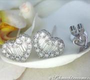 Feinste Brillanten / Diamanten Ohrstecker im Herz-Design image