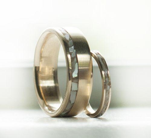 Women S Rings Pearl Wedding Ring Matching Wedding Band Sets Wood Wedding Rings Set