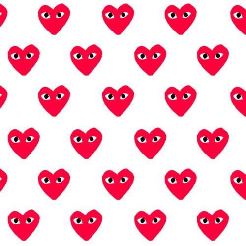 Comme De Garcon Pattern Art Pattern Illustration Heart