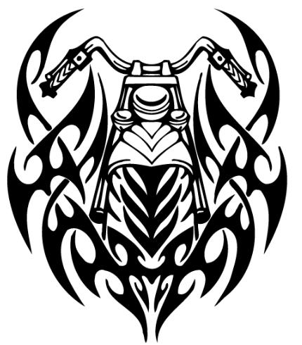 Harley davidson tribal. Free biker designs silhouette