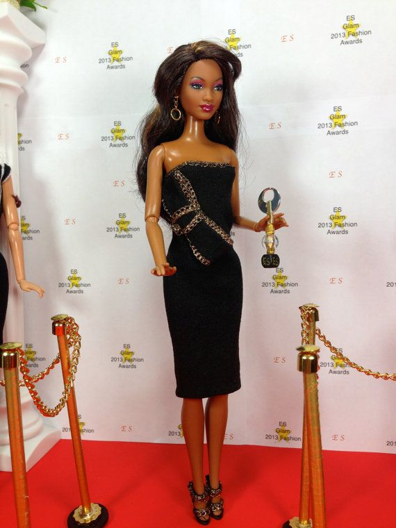 Doll Dress For Barbie  Black Stretch Fitted by EnchantedStyles, $10.00