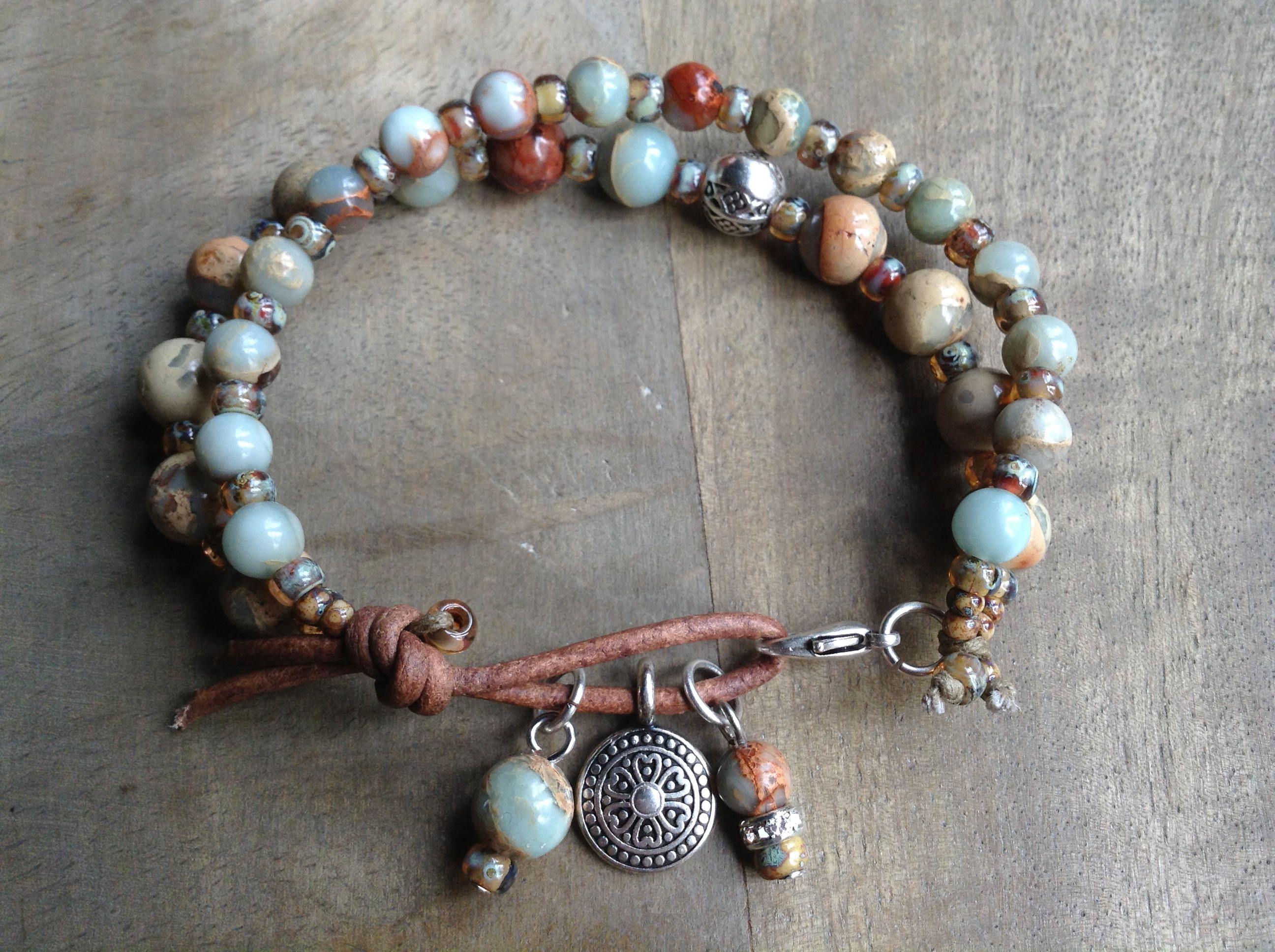 Cm wristimpression jasper bohemian bracelet boho chic bracelet