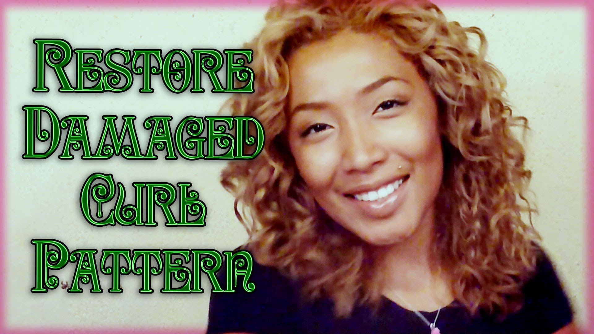 How to get natural curl pattern back after bleaching and
