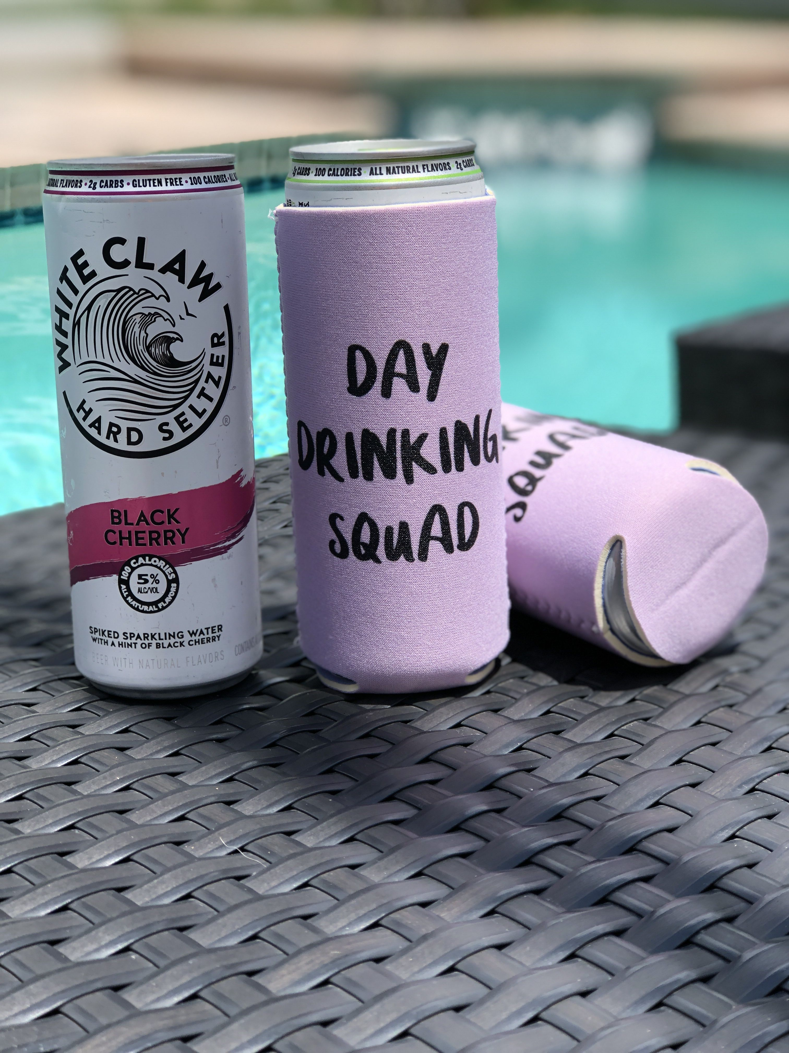 Day Drinking Squad Slim Can Cooler Etsy Day drinking
