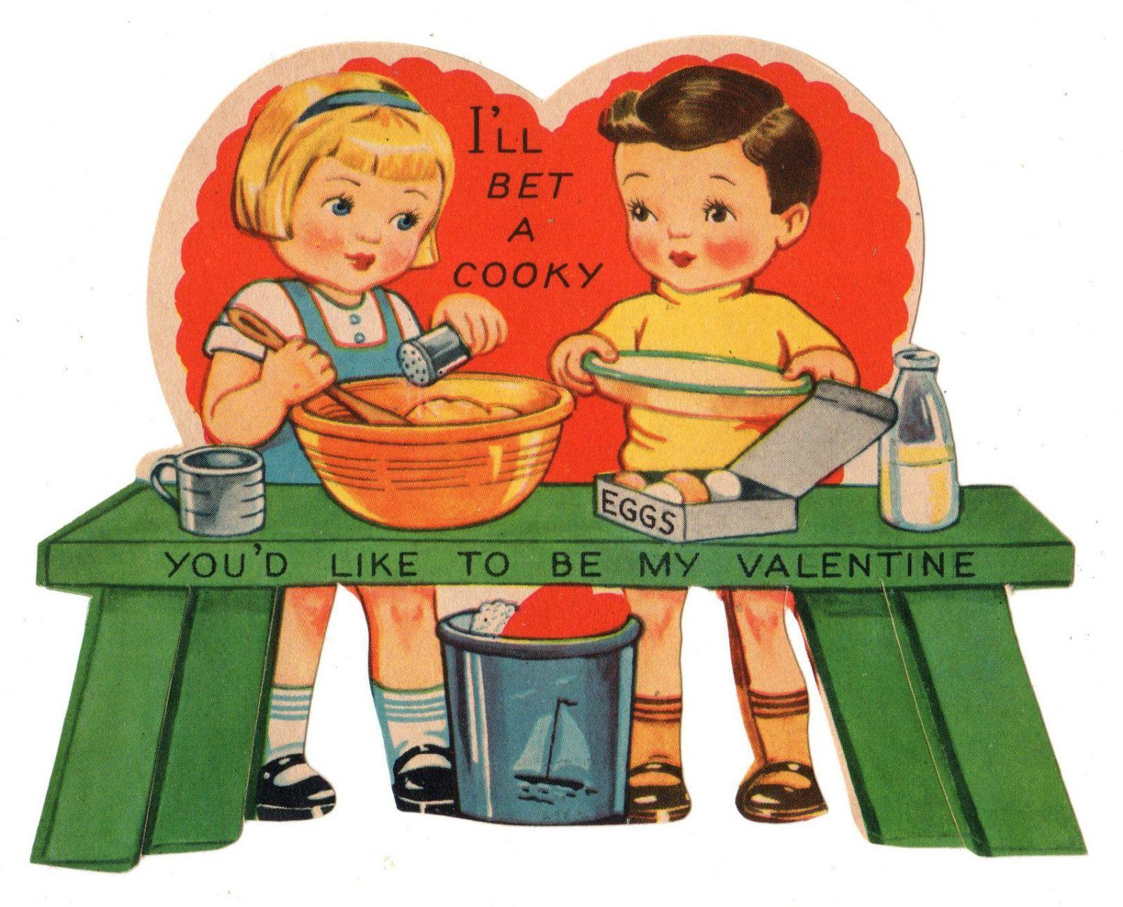 Vintage Valentine Card  eBay  Vintage Valentines Cards