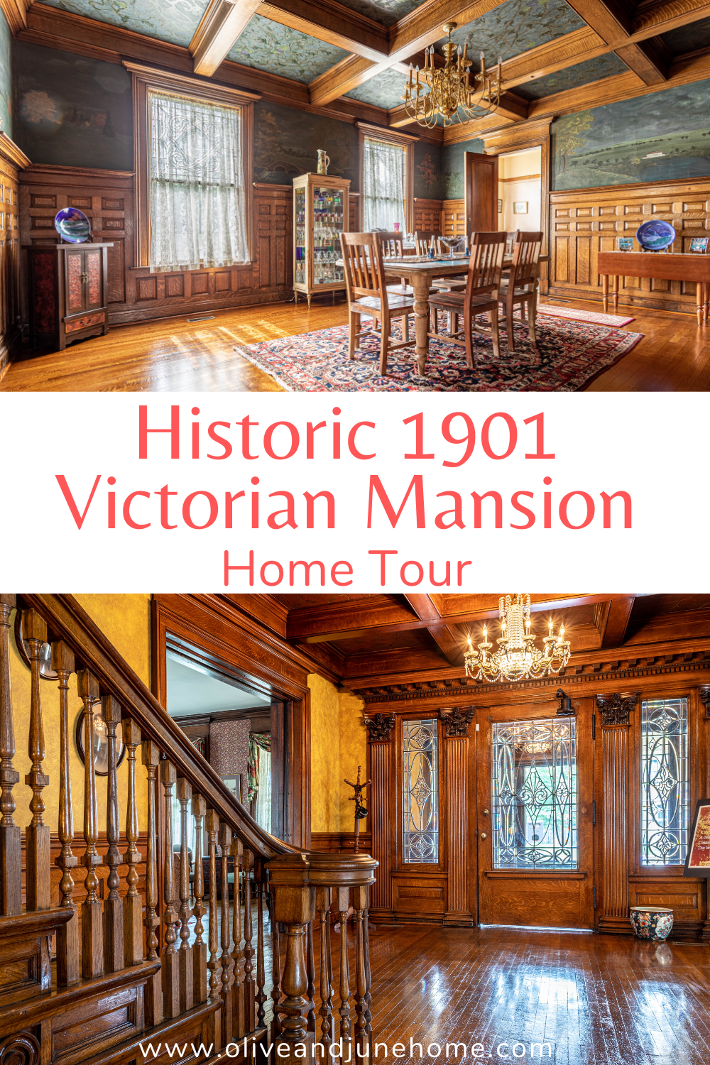 Love old houses? Then you don't want to miss this beautifully restored 1901 Victorian Mansion. Filled with original woodwork and charm, this home truly is something to behold. #oldhouse #historichome #victorian