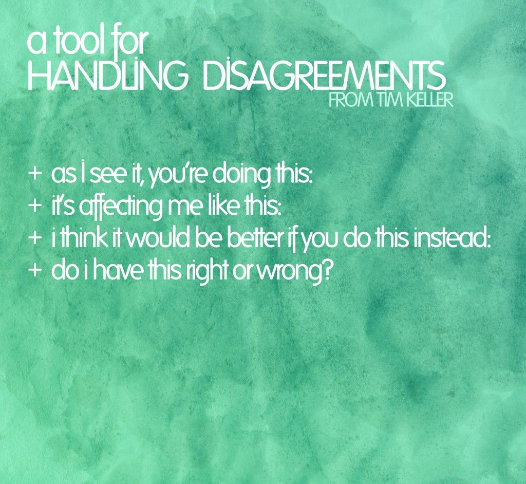 tool for handling disagreements in relationships and marriage