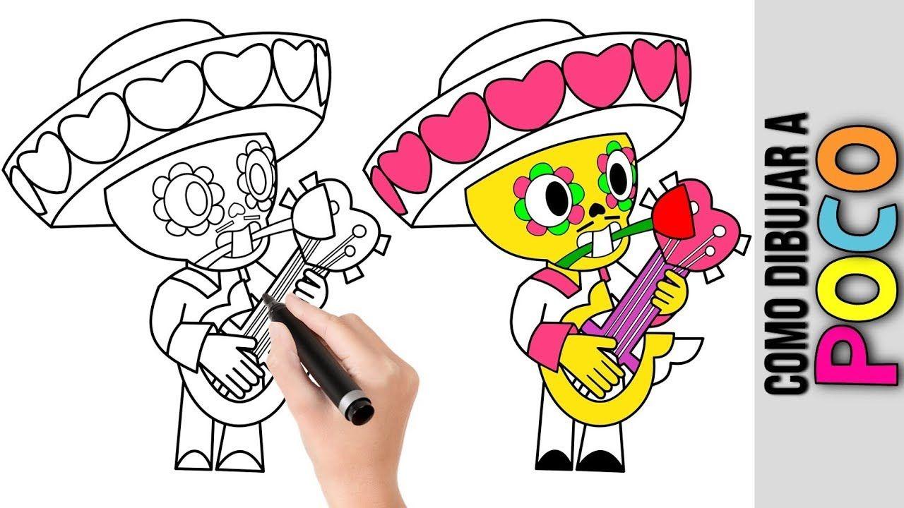 como dibujar a valentine's poco de brawl stars ★ dibujos