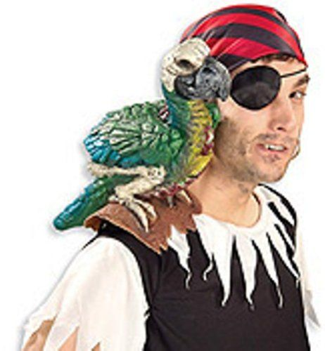PARROT ON MY SHOULDER PIECE  - Click image twice for more info - See a larger selection womens men's pirate costume at http://costumeriver.com/product-category/men/ - mens, holiday costume , event costume , halloween costume, cosplay costume, classic costume, scary costume, pirate, classic costume, clothing