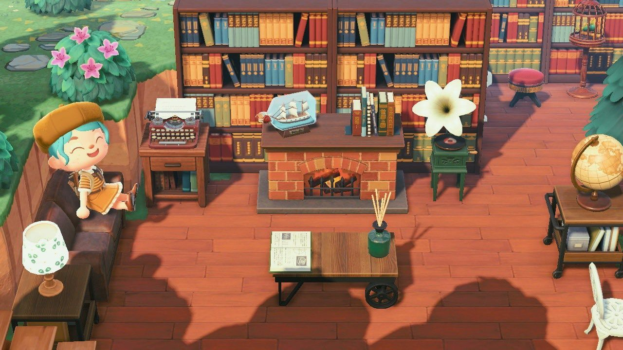 Coffee shop library animal crossing new horizons