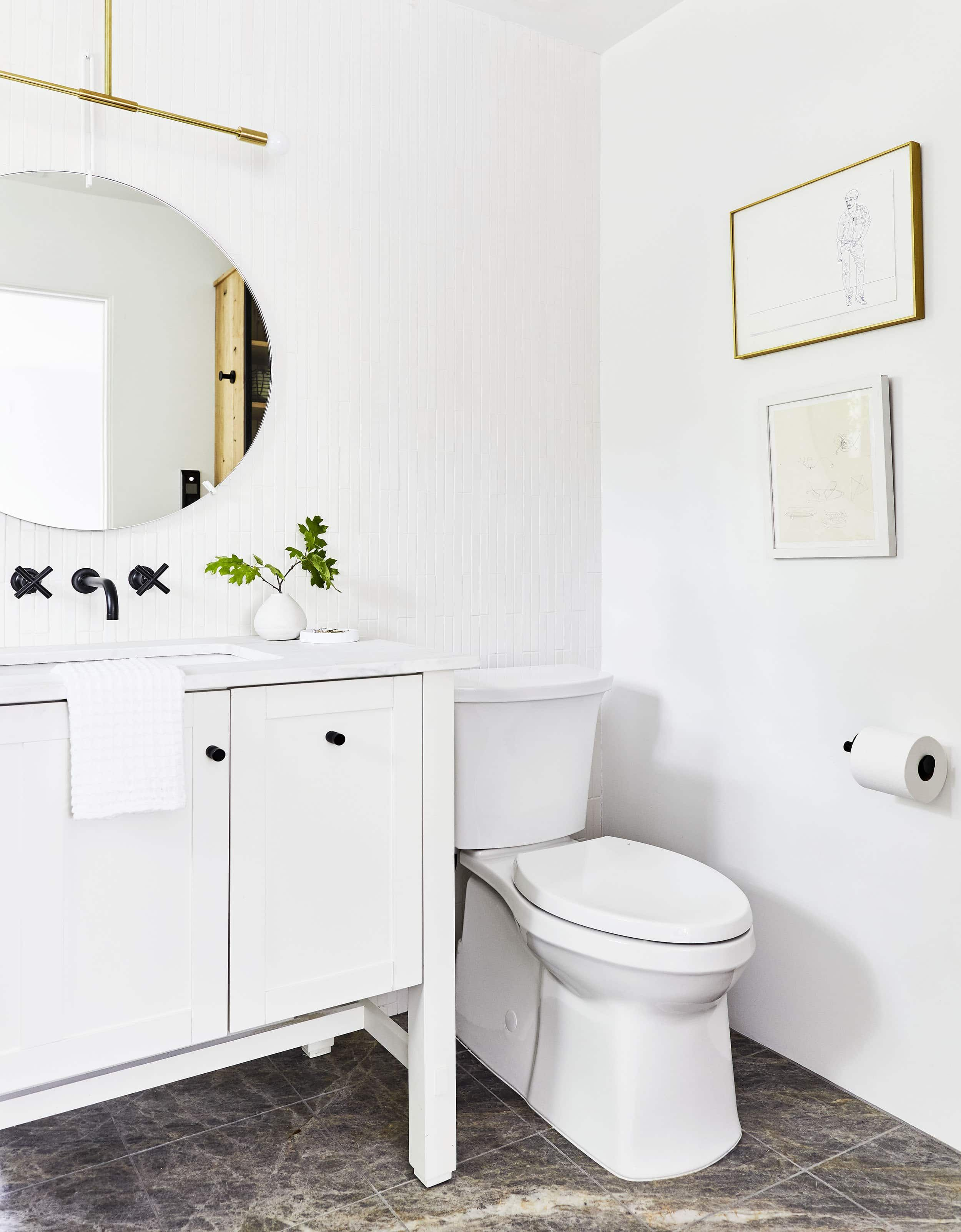 Mountain House Reveal The Closet Turned Modern Guest Bathroom Modern White Bathroom Bathroom Inspiration Guest Bathroom