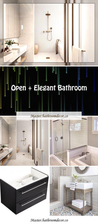 Zusatzliches Badezimmer Sehen Sie Die Verwandlung In Diesen Schonen Neutralen Meister In 2020 Elegant Bathroom Neutral Bathrooms Designs Modern Farmhouse Bathroom