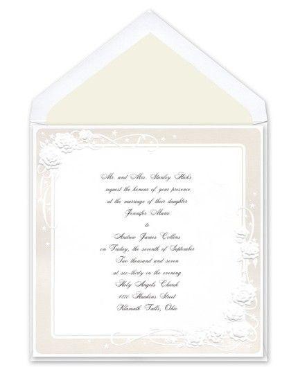 Pearl Rose Border Invitations Birchcraft Book Wedding Invitations Wedding Invitations Wedding Book
