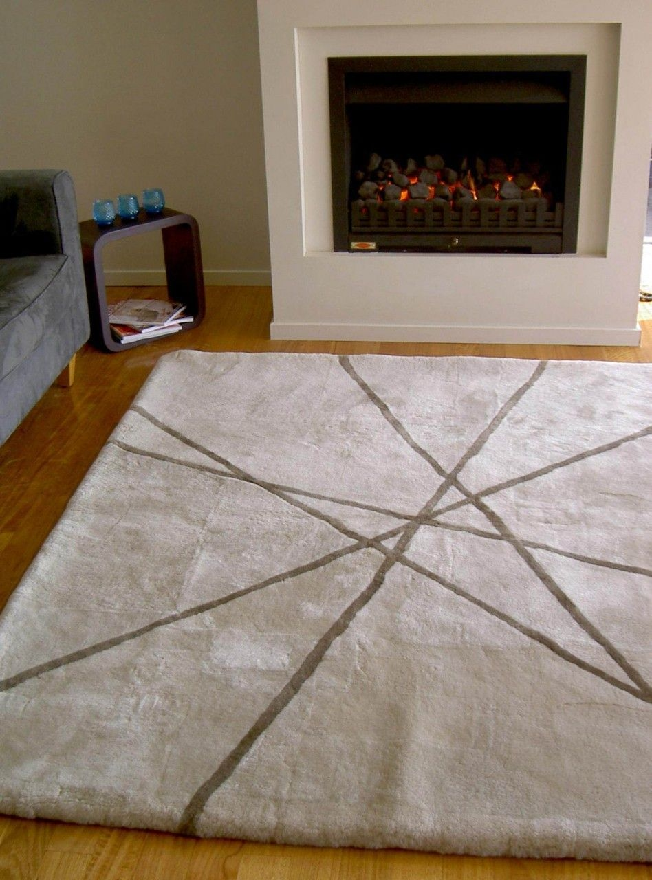 The Lines Sheepskin Rug Was Made To Be Placed In Front Of A Fireplace