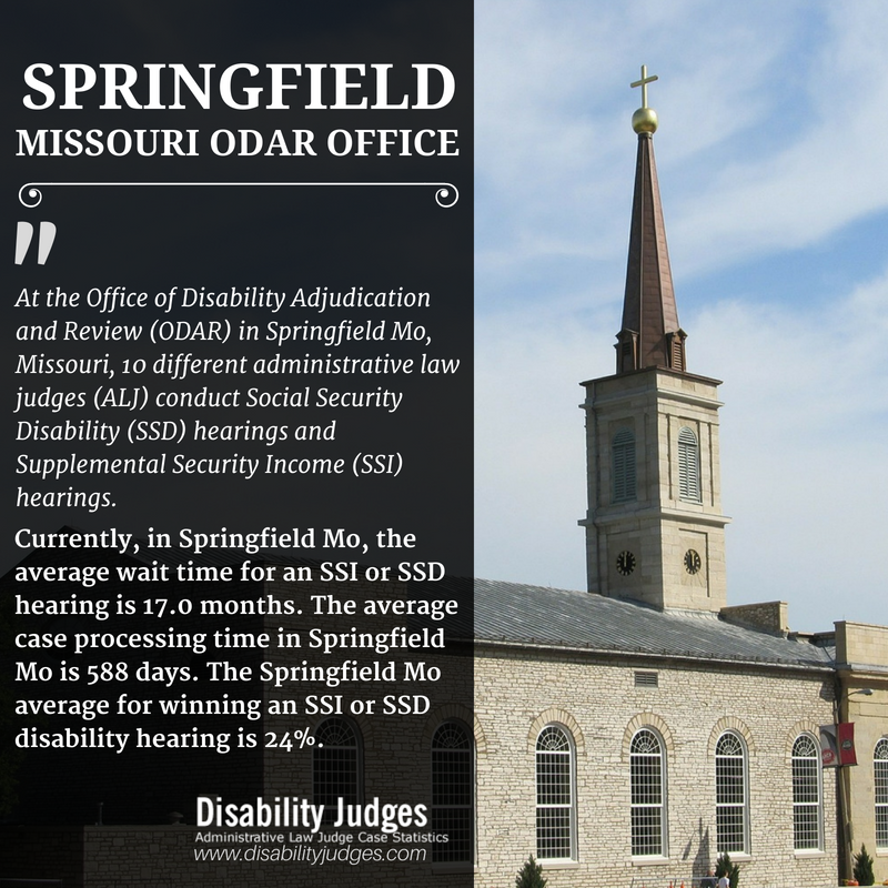 Know The Detailed Information About The Hearing Offices And The Administrative Law Judges Alj That Work In Springfield M Springfield Mo Missouri Springfield