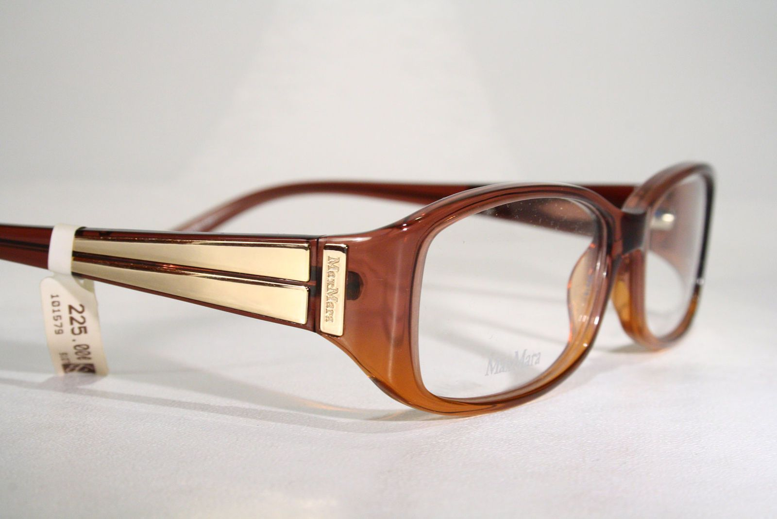 c4ff845d31a Details about Women s Gold Decor Brown Plastic MAX MARA Seethru ...
