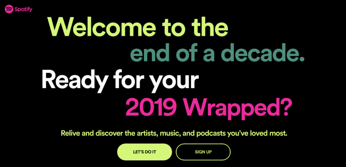 Spotify 2019 Wrapped A Design Masterstroke Music Streaming App Spotify Data Visualization