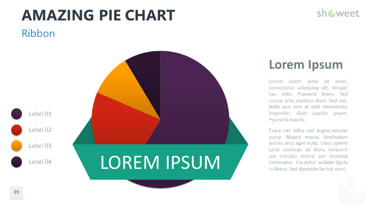 Amazing Pie Charts 2 For Powerpoint Charts Diagrams For