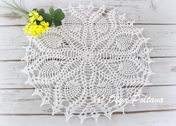 Pineapple Doily Pattern Simple Crochet Doily Pattern With Pineapple